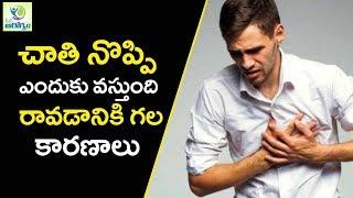 Chest Pain Causes and Treatment - Mana Arogyam Telugu Health Tips
