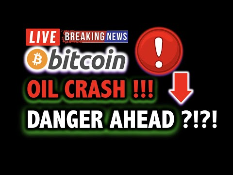 BITCOIN PRICE IN DANGER AFTER CRUDE OIL CRASH?! 📛 LIVE Crypto Analysis TA & BTC Cryptocurrency News