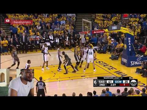 Golden State Warriors vs San Antonio Spurs Game 2 2018 Reaction Video