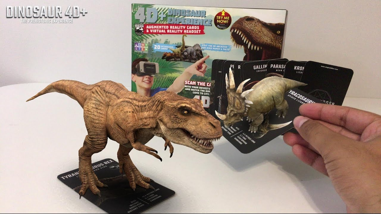 UNBOXING & LETS PLAY – Utopia 360° 4D+ DINOSAUR EXPERIENCE! – AUGMENTED REALITY VR Flash Cards!