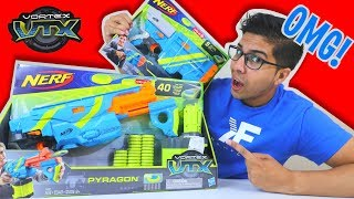UNBOXING & LETS FIRE! | Nerf Vortex VTX Vigilon + Pyragon | Unboxing, Review, & Firing Demo