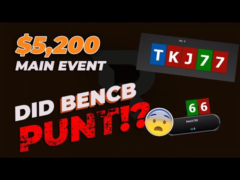 REVIEW $5,200 Winter Series Main Event - Bust Out Bencb - 동영상