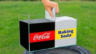 Experiment: Coca Cola and Baking Soda!