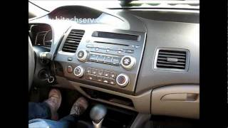 How to Remove Radio / CD Changer from 2007 Honda Civic for Repair.
