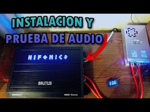 Prueba Amplificador Hifonics Brutus Br1000.1 - Car Audio En Casa