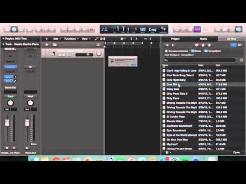 Open Garageband Songs in Logic Pro X