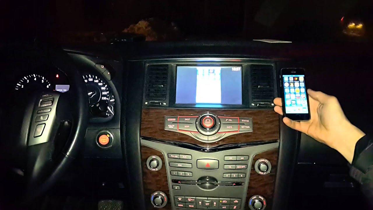 Infiniti G (2006 14) установка блока для передачи информации с телефона на монитор автомобиля,+USB.