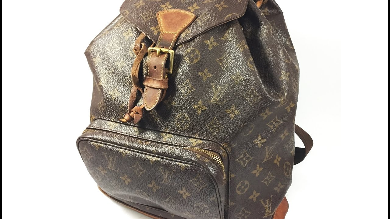 c3913c6b5a22 Authentic Louis Vuitton Monogram Montsouris GM M51135 Backpack Packing  Video LA078