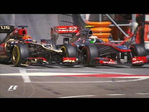 Raikkonen And Perez's Chicane Collision | Monaco Grand Prix 2013