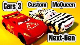 Pixar Cars 3 Custom Paint Next Gen Lightning McQueen from Jackson Storm and Zebra Lightning McQueen