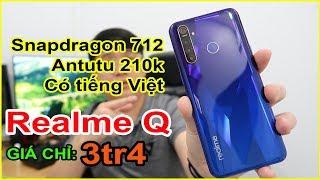 Mở hộp Realme Q (5 Pro) giá 3tr4 trên LAZADA, SHOPEE. Snapdragon 712, Antutu 210k | MUA HÀNG ONLINE