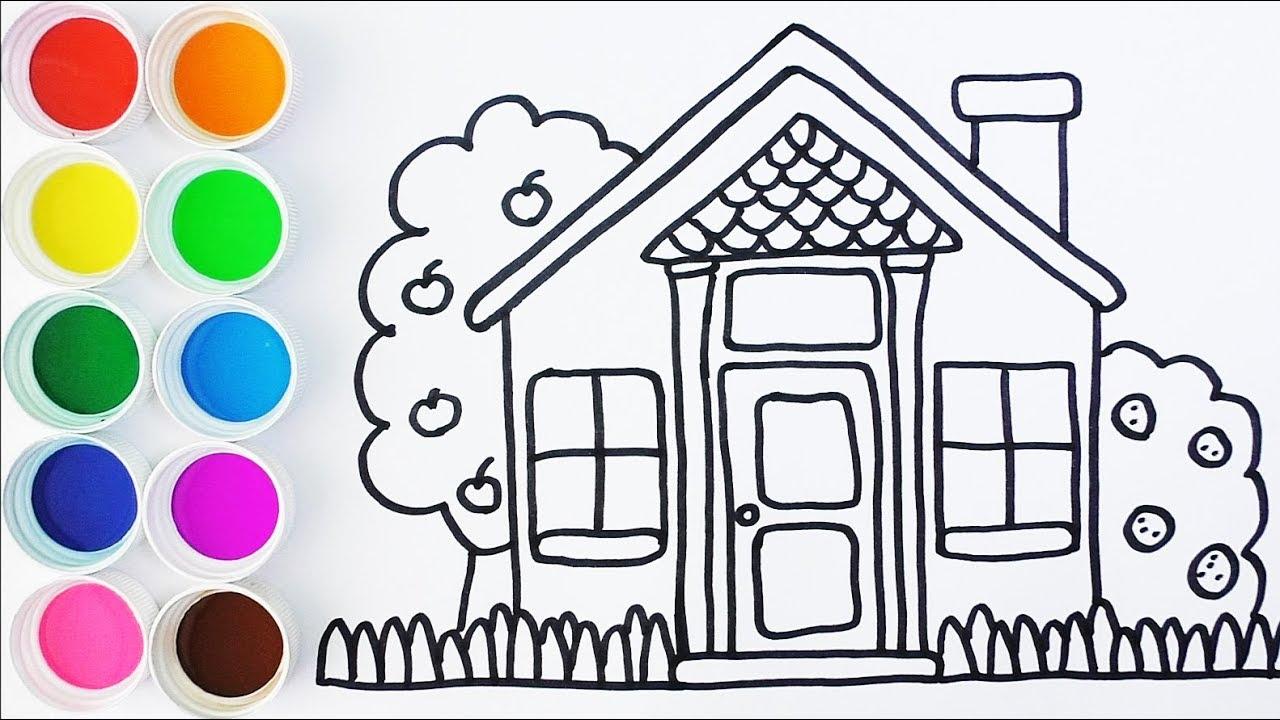 Dibujos De Casas Para Colorear Para Ninos: Como Dibujar Y Colorear Una Casa