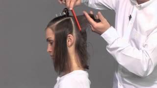 Стрижка слоями на волосах средней длины - видео-урок