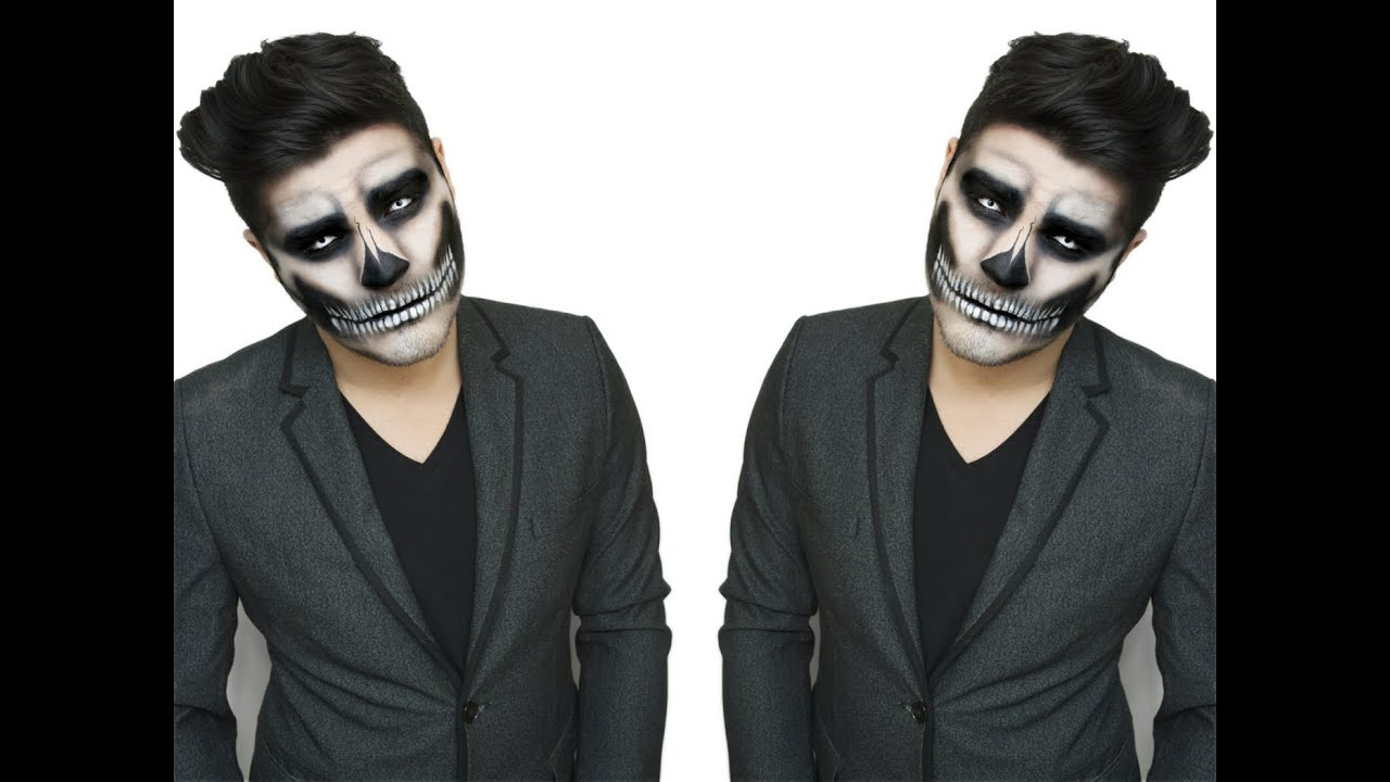 Traditional Skull Makeup Tutorial   Alex Faction - YouTube