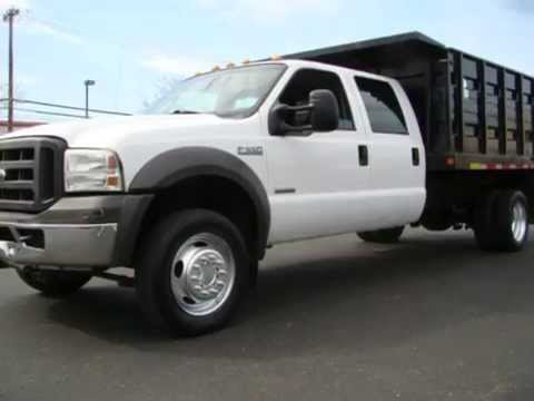 2005 Ford F550 Crew Cab Dump Truck For Sale Powerstroke ...