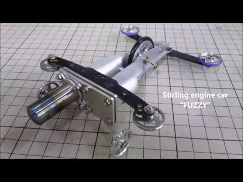 "High-efficiency Stirling Engine Car ""FUZZY""  [Full version] / 多種熱源対応 高効率スターリングエンジンカー 『FUZZY』"