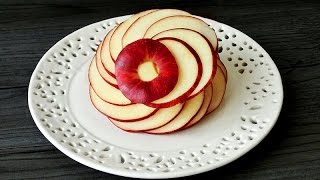 Art In Apple Flower | Fruit Carving Garnish | Apple Art | Party Garnishing