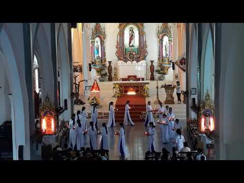Giáo xứ đồng nghĩa :dâng hoa kính đức mẹ ;2018
