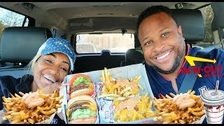first time trying in n out burger mukbang