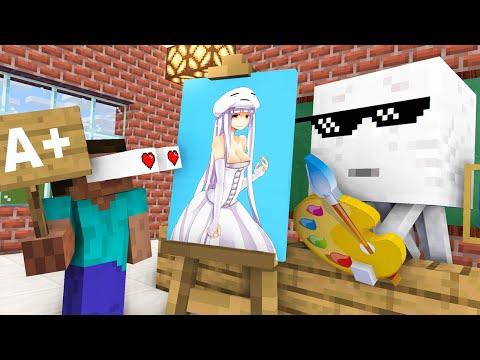 Monster School : DRAWING CHALLENGE NEW EPISODE - Minecraft Animation