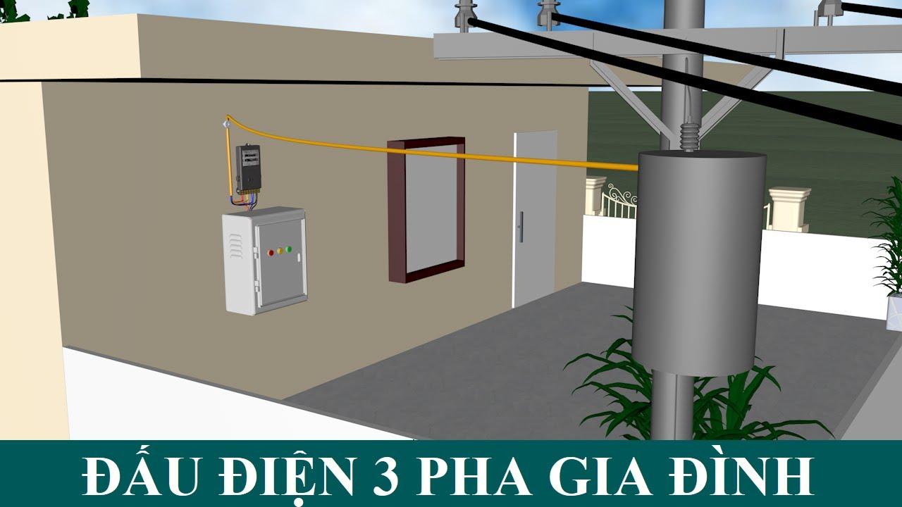 Cách đấu điện 3 pha 4 dây sang điện 1 pha dùng cho thiết bị điện gia đình!