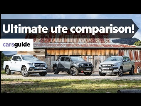 Ford Ranger vs Toyota HiLux vs Mercedes-Benz X-Class 2018 ute comparison review