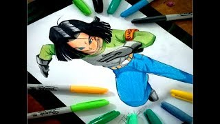 How To Draw Androide 17 | Speed Draw | Ilustration Venezuela| Drawing Dibujando