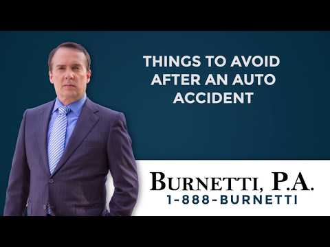 Things to Avoid After an Auto Accident