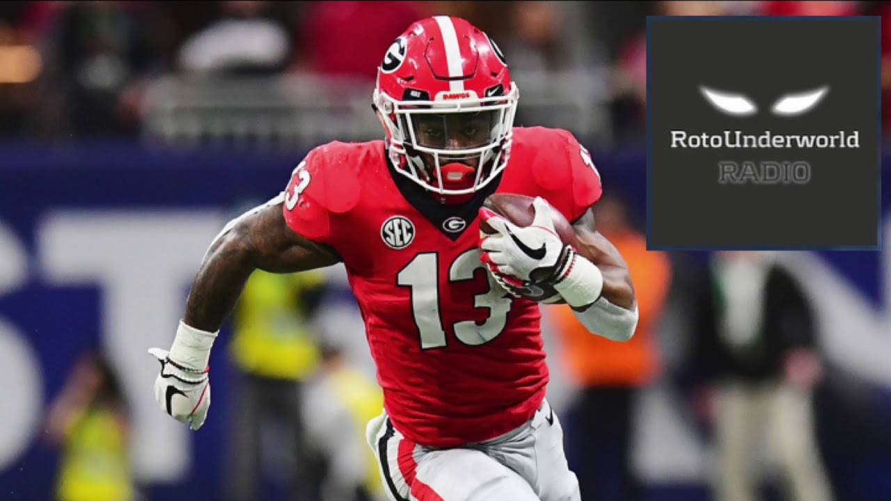 buy popular 9377d 9eb49 What the hell happened to Elijah Holyfield & Devin Singletary at the NFL  Scouting Combine?