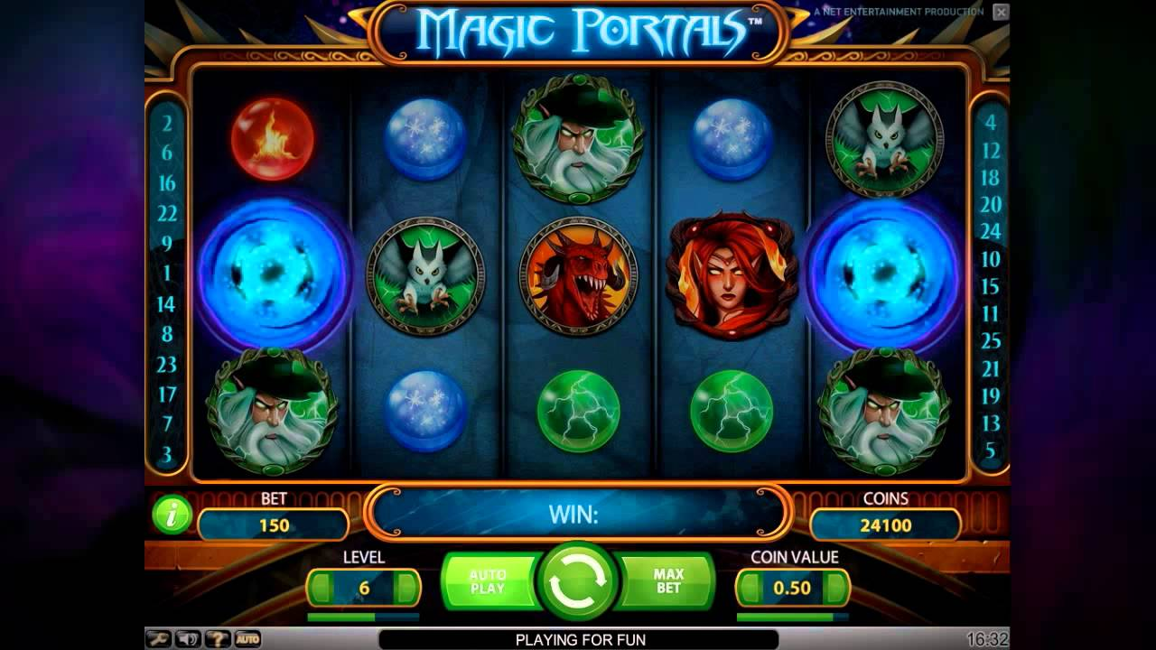 10 Free Spins On Magic Portals Slot Net Entertainment Youtube