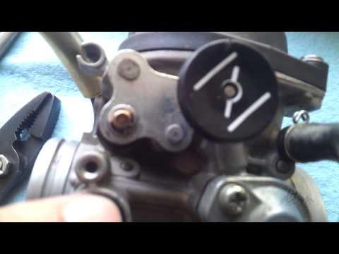 DRZ400SM Carburetor Removal / Pilot Jet Removal