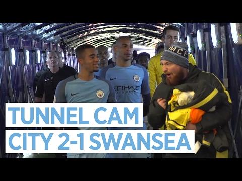 GABRIEL JESUS SCORES TWO! | TUNNEL CAM | MAN CITY 2-1 SWANSEA