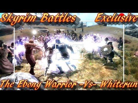 Skyrim Battles - The Ebony Warrior vs Whiterun [Master Settings]