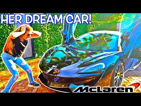 I BOUGHT MY GIRLFRIEND A $200,000 MCLAREN PRANK! (HER DREAM CAR!)