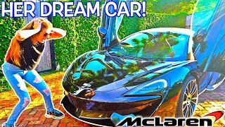 i bought my girlfriend a 200 000 mclaren prank her dream car