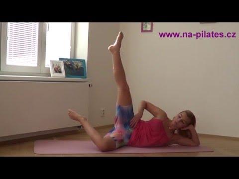 Na Pilates: boky hýždě nohy