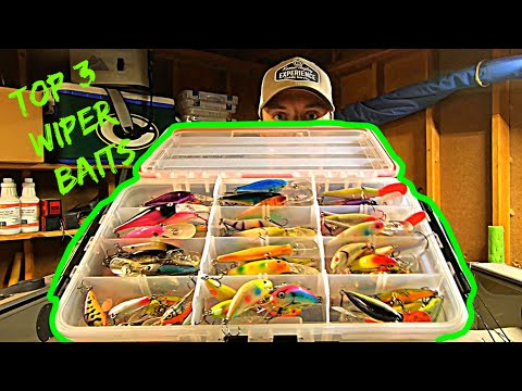 My TOP 3 WIPER BAITS (& Techniques)