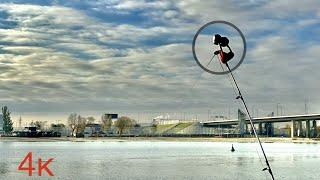 Зимняя рыбалка на открытой воде с набережной Ростова на Дону Рыбец в декабре