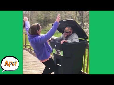 She'll NEVER Trust a Trashcan AGAIN! 😂   Funny Pranks & Fails   AFV 2021