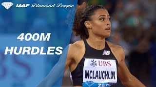 20 year-old Sydney McLaughlin wins the 400m hurdles final in Zurich - IAAF Diamond League 2019