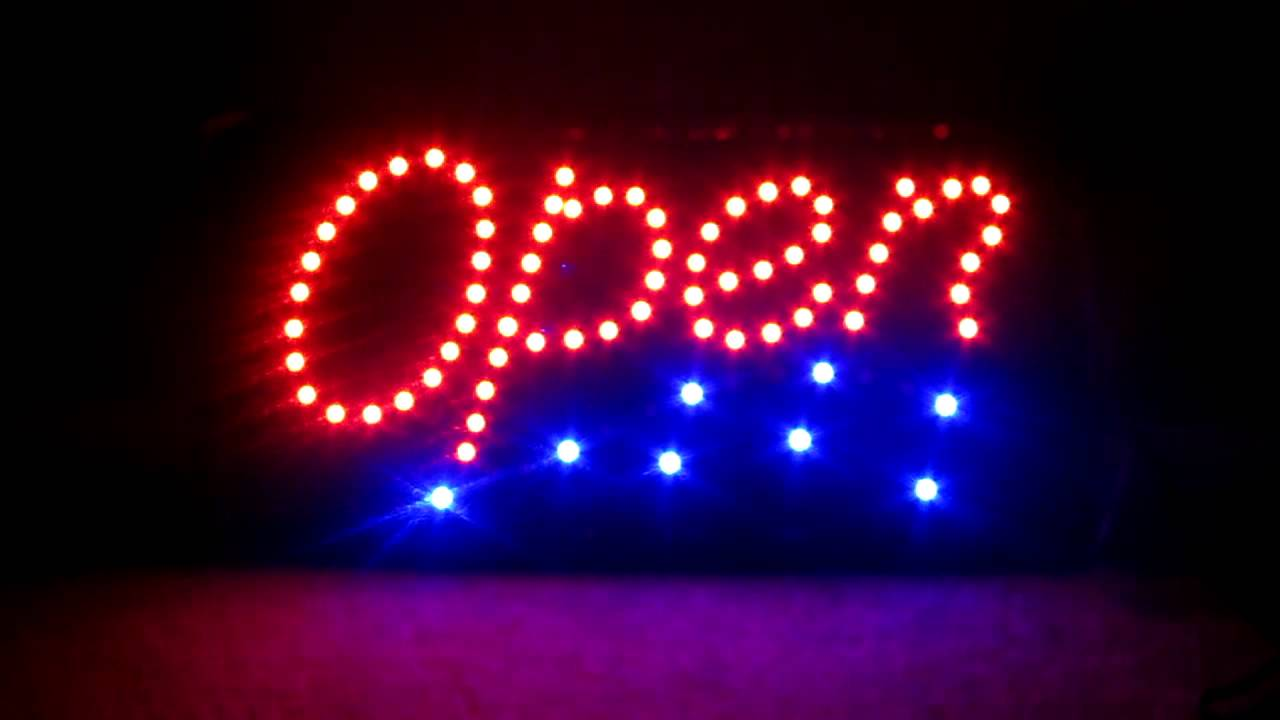 eBay a1groups LED light Bright OPEN SIGN FOR HAIR/NAIL/SALON/COFFEE ...