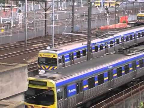 Lots of Historical Footage - North Melbourne Train Station May 2007 Australian Trains