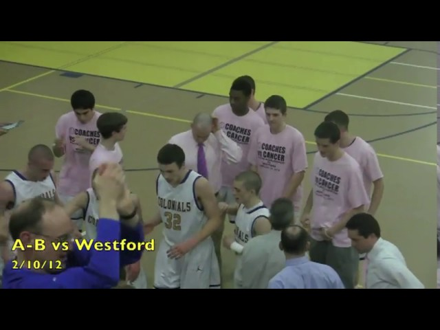 Acton Boxborough Varsity Boys Basketball vs Westford 2/10/12