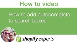 How to add autocomplete for search boxes on your shopify store
