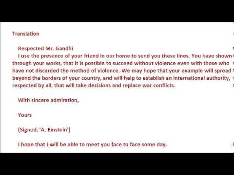 Letter From Einstein To Gandhi And Gandhiu0027s Response!