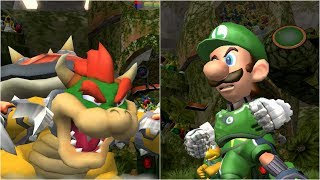 Mario Strikers Charged - Bowser vs Luigi - Wii Gameplay (4K60fps)