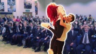 we danced in front of my old school