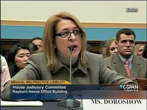 Joanne Doroshow Testifying Before the U.S. House Judiciary Committee on Medical Liability (Pt. 1)