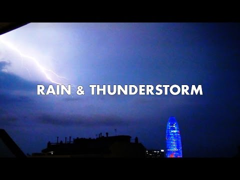 EPIC THUNDERSTORM & RAIN !! Powerful Lightning storm with Heavy Rain for Sleeping