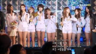 FANCAM 090919 SNSD Ending  Asia Song Festival 2009